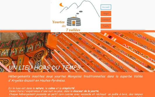 Ejemplo de sitio web yourte des 7 vallées-hautes pyrenees