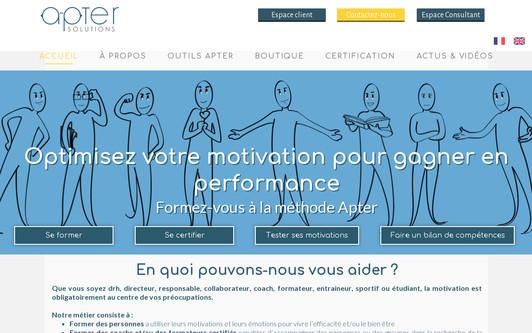 Ejemplo de sitio web Apter Solutions