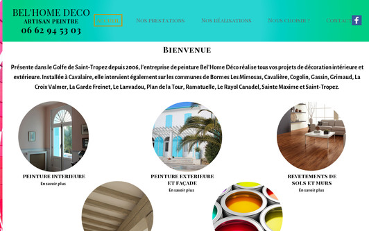 Site exemple BEL'HOME DECO