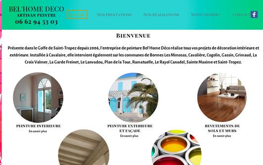 Ejemplo de sitio web BEL'HOME DECO