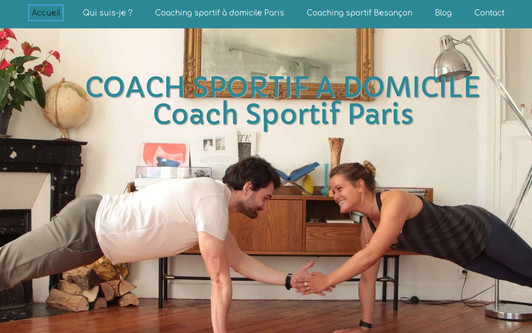 Example website Coach sportif Paris - Coaching sportif à domicile - 50 % de réduction d'impôts