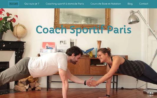 Site exemple Coach sportif Paris - Coaching sportif à domicile - 50 % de réduction d'impôts