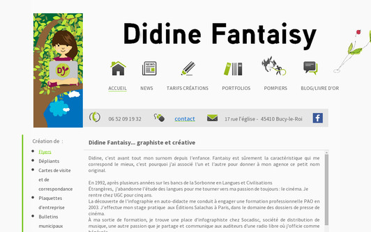 Example website DIDINE FANTAISY - Publicité & création