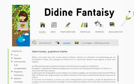 Ejemplo de sitio web DIDINE FANTAISY - Publicité & création