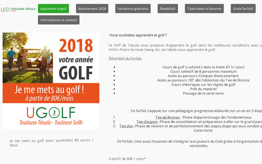 Site exemple Golf de Téoula