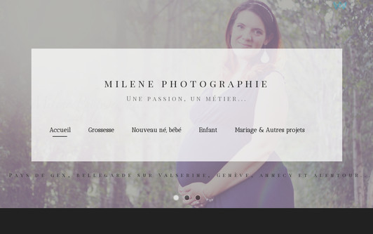 Example website milenephotographie