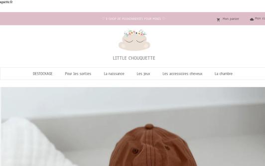 Ejemplo de sitio web Little chouquette