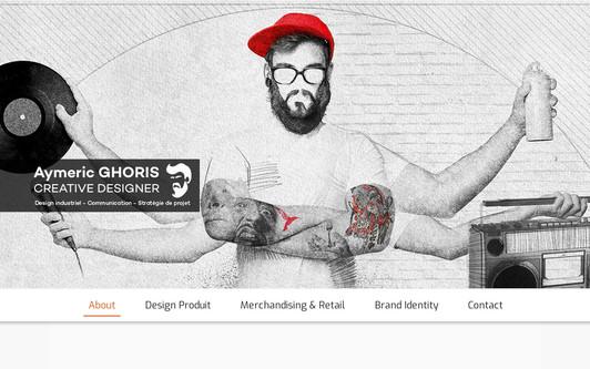 Site exemple Aymeric GHORIS Creative Designer