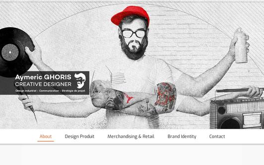 Example website Aymeric GHORIS Creative Designer