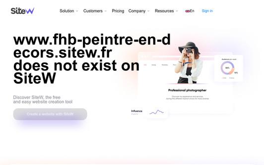 Ejemplo de sitio web FHB peintre en décors sur Orléans, le Loiret et région Centre