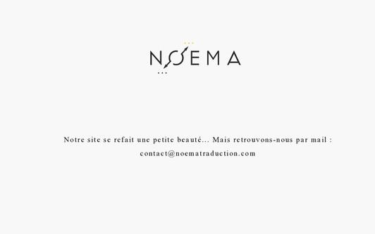 Ejemplo de sitio web Noema Traduction