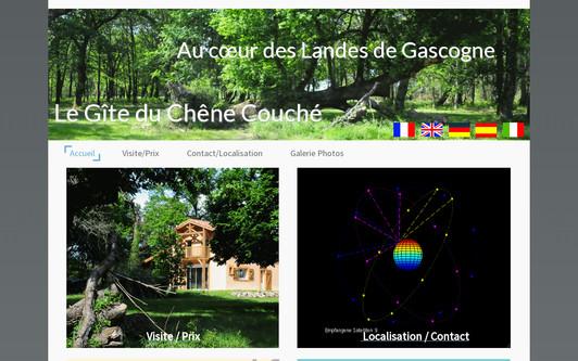 Example website Le gîte du Chêne Couché