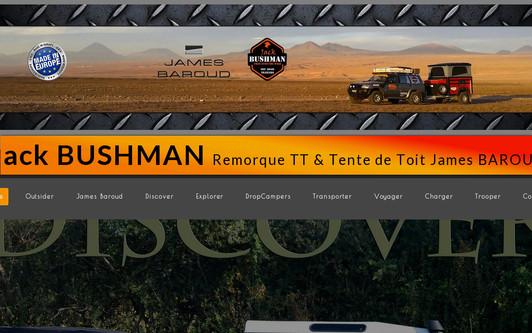 Ejemplo de sitio web Jack Bushman