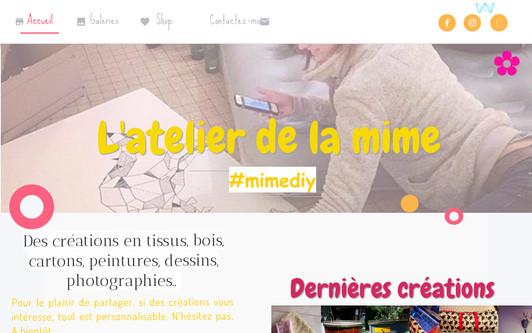 Example website l'atelier de la mime