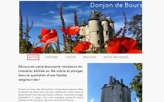 Site exemple Donjon de Bours