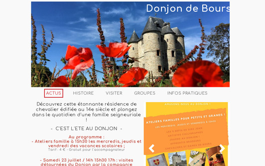Example website Donjon de Bours