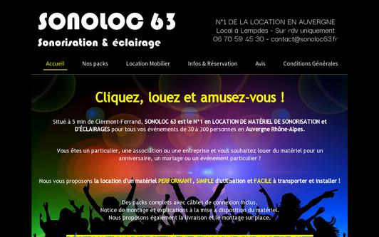 Example website SONOLOC 63