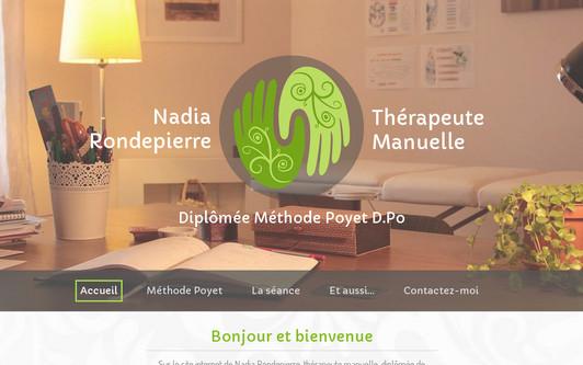 Site exemple Nadia RONDEPIERRE Thérapeute Manuelle Méthode Poyet D.Po