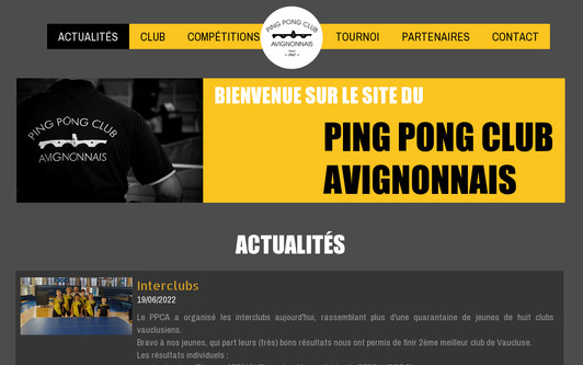 Ejemplo de sitio web www.ppcavignonnais.fr