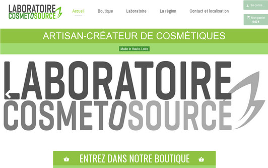 Site exemple Laboratoire Cosmetosource