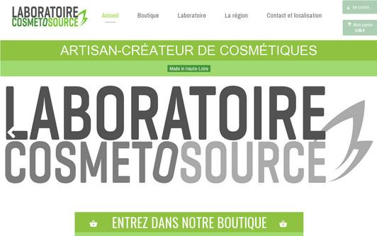 Ejemplo de sitio web Laboratoire Cosmetosource