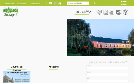 Site exemple Site officiel de la commune de Souvigné