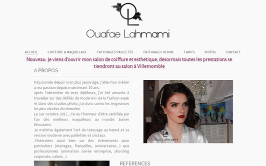 Example website coiffure-maquillage-henné