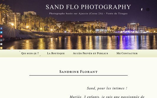 Example website Sand Flo Photography