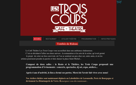 Example website cafelestroiscoups