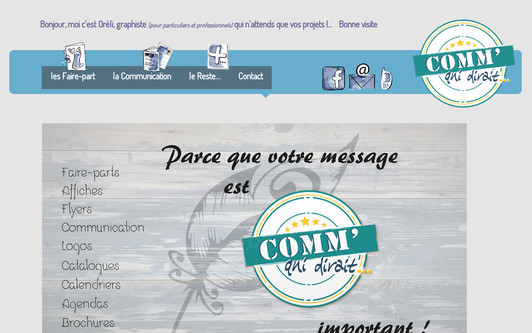 Example website Comm' qui dirait...