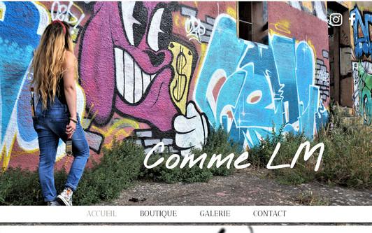 Ejemplo de sitio web Comme LM