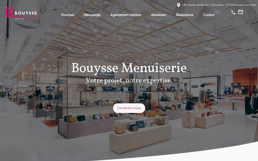 Example website Menuiserie Bouysse