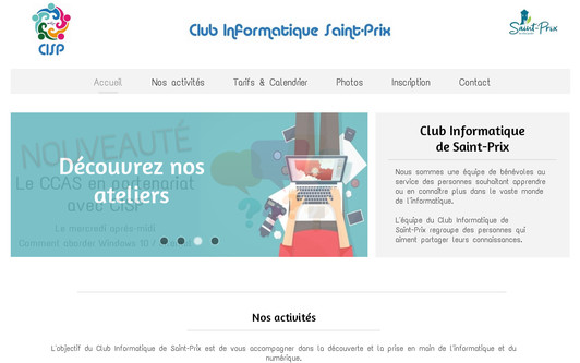 Ejemplo de sitio web Club Informatique Saint-Prix