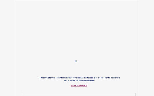 Site exemple Maison des adolescents de Meuse - MDA55