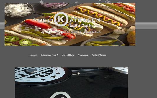 Example website Delikatessen