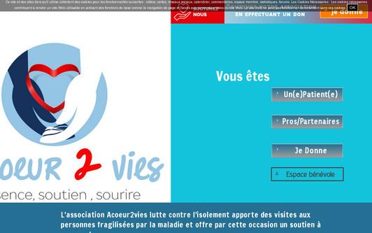 Ejemplo de sitio web Acoeur2vies