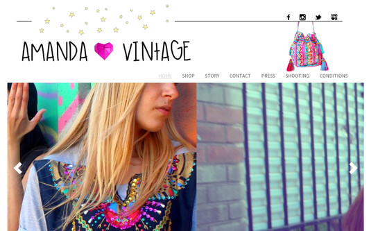 Site exemple amanda love vintage