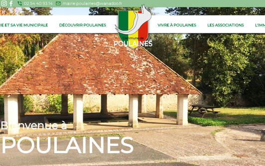 Site exemple Commune de Poulaines