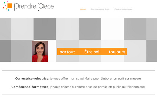 Example website Prendre place