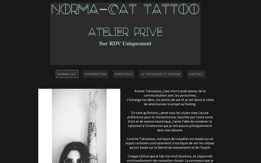 Site exemple NORMA-CAT TATTOO