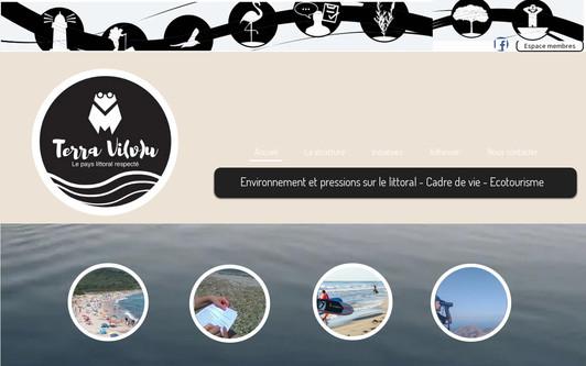 Example website Terra Vi(v)u - le pays littoral respecté