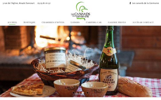 Site exemple Les canards de la Germaine - Sancourt