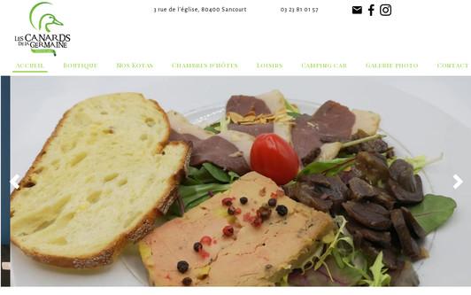 Ejemplo de sitio web Les canards de la Germaine - Sancourt