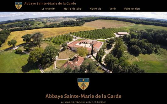 Example website Monastère Sainte-Marie de la Garde