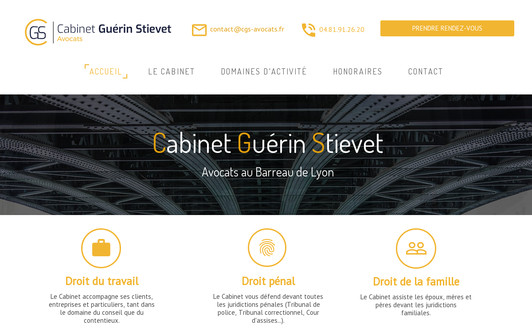 Example website Clément STIEVET - Avocat au Barreau de LYON