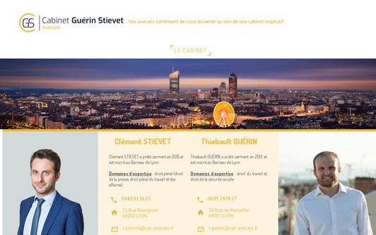 Site exemple Clément STIEVET - Avocat au Barreau de LYON