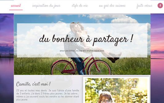 Ejemplo de sitio web Bonheur à partager