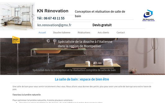 Example website KN Rénovation