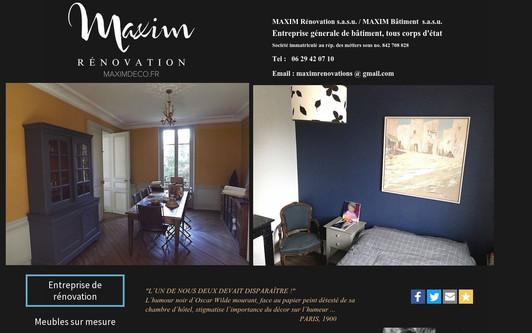 Example website entreprisemaxim