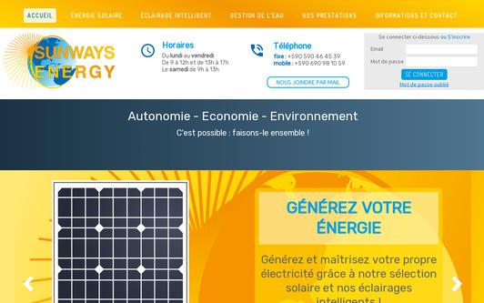 Ejemplo de sitio web SUNWAYS ENERGY